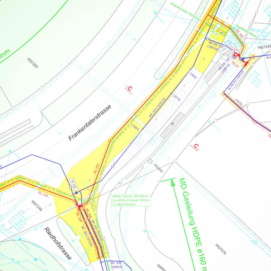 ADUplan Bauingenieur Werkleitungsbau Kanalbau WK1